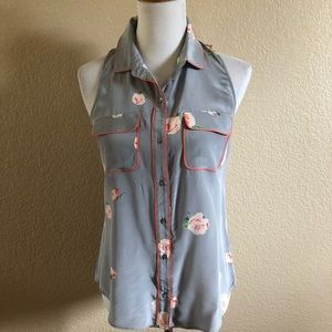 PJK Patterson J. Kincaid Floral Sima Shirt Top XS